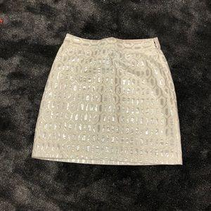 Banana 🍌 Republic silver skirt